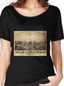 Panoramic Maps Hebronville Massachusetts Women's Relaxed Fit T-Shirt