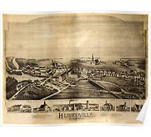 Panoramic Maps Hebronville Massachusetts Poster