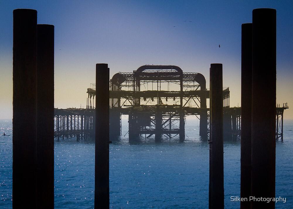 Blackened Pier, West Pier, Brighton by Silken Photography
