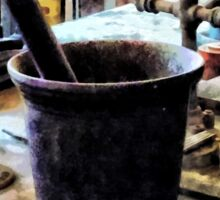 Mortar and Pestle in Chem Lab Sticker