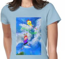 Lets Go Fly a Kite Womens Fitted T-Shirt