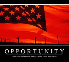 Opportunity: Inspirational Quote and Motivational Poster by StocktrekImages