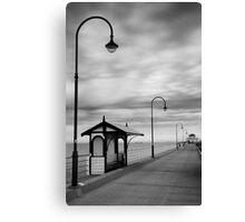 Pier Into The Past Canvas Print