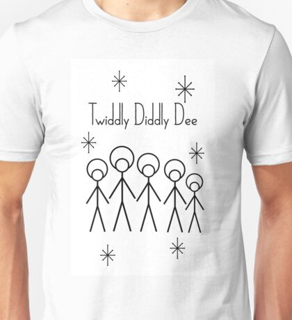 Twiddly Diddly (Black Ink) Unisex T-Shirt