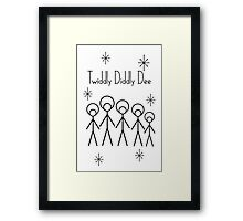 Twiddly Diddly (Black Ink) Framed Print