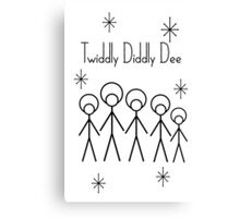 Twiddly Diddly (Black Ink) Canvas Print
