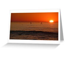 Sunset in San Diego, CA Greeting Card
