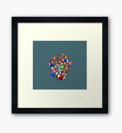 Mario Evolution Framed Print
