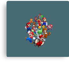 Mario Evolution Canvas Print