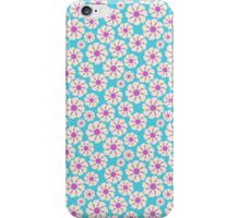 Chic trendy vintage pink teal retro floral  iPhone Case/Skin
