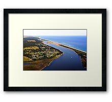 Marlo .Vic. East Gippsland View of Snowy River Entrance Framed Print