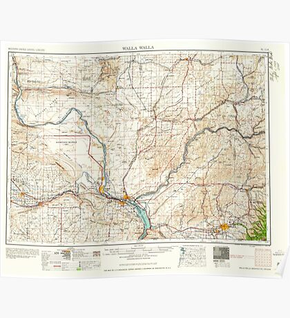 USGS Topo Map Washington State WA Walla Walla 244505 1958 250000 Poster