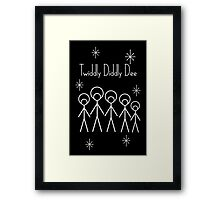 Twiddly Diddly (White Ink) Framed Print