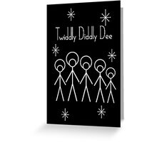 Twiddly Diddly (White Ink) Greeting Card