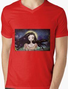 Blue Autumn Mens V-Neck T-Shirt
