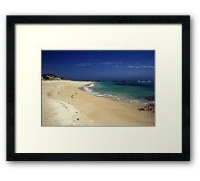 Little Dip Beach Framed Print