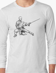 Shaolin Warrior Monk (Kung Fu / Wushu) Long Sleeve T-Shirt