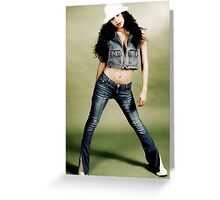 White hat, White boots Greeting Card