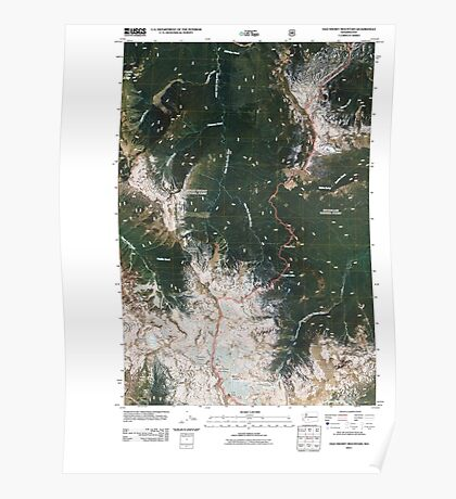 USGS Topo Map Washington State WA Old Snowy Mountain 20110520 TM Poster