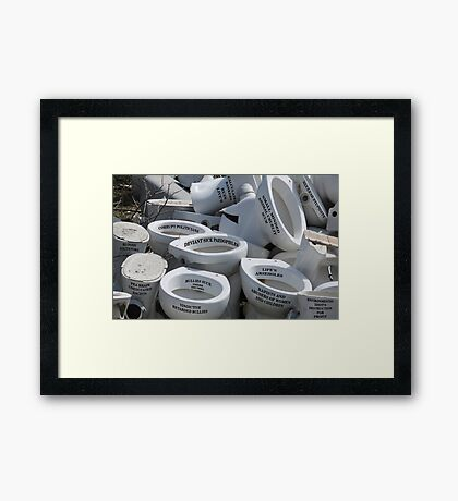 Life's Arseholes Framed Print
