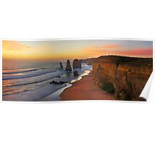 Late Sunset - 12 Apostles Poster