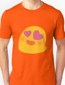 Smiling face with heart-shaped eyes android emoji Unisex T-Shirt