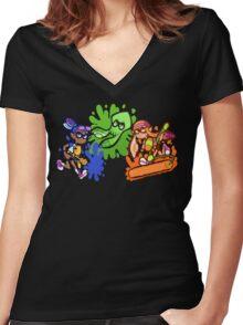 Splatoon! Women's Fitted V-Neck T-Shirt