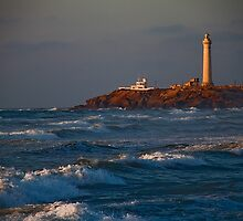 Morocco. Casablanca. Atlantic Ocean. Lighthouse. by vadim19