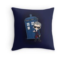 Twelfth Doctor ; Rock'n'Roll Throw Pillow