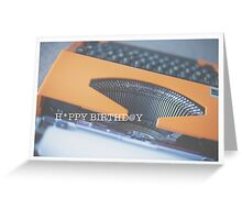 typewriter: happy birthday Greeting Card
