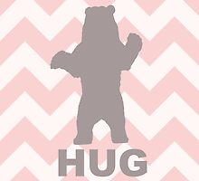 Bear Hug - Pink by Susan Tong