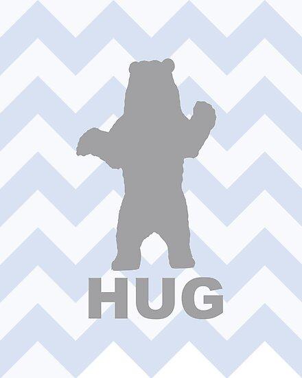 Bear Hug - Blue by Susan Tong