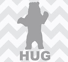 Bear Hug - Grey by Susan Tong