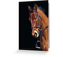 Competition Face Greeting Card