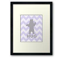 Bear Hug - Purple Framed Print