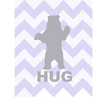 Bear Hug - Purple Photographic Print