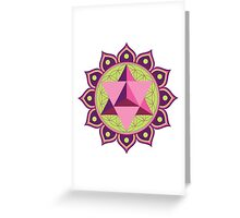 Merkaba with Flower of Life Greeting Card