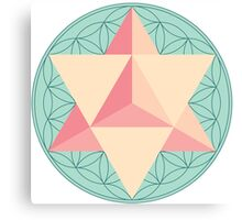 Merkaba with Flower of Life Canvas Print