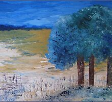 Blue trees by Elizabeth Kendall