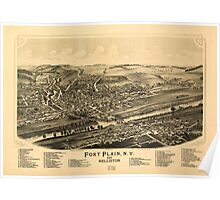 Panoramic Maps Fort Plain NY and Nelliston Poster