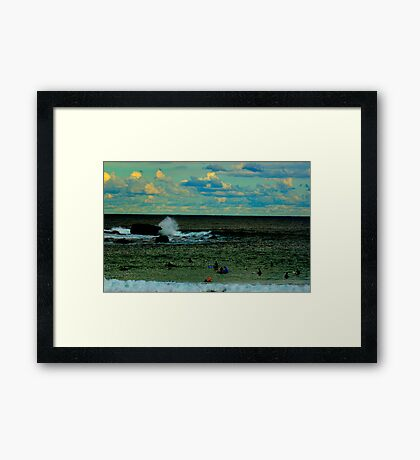 A quiet day at the office Framed Print