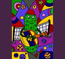 Cool Pickle Playing Pickleball Paddle Guitar Unisex T-Shirt