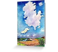 The Huge Cloud Greeting Card