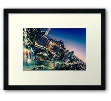 Melbourne City Twilight Framed Print