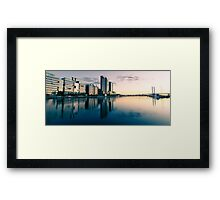 Melbourne Docklands Sunset 2 Framed Print