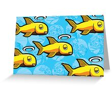 Angel Fish School - Abstract Scuba Greeting Card