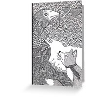 The Fox and the Crow Greeting Card