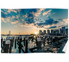 Melbourne Docklands Sunset 1 Poster