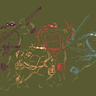 ninja turtles by koroa