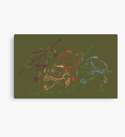 ninja turtles Canvas Print